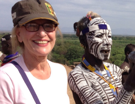 Phyllis Stoller in Ethiopia. Travel Advice for women going to Africa.