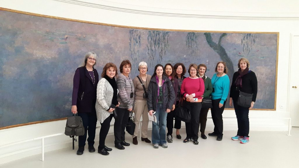 Women holiday travel with The Women's Travel Group to Paris to see Monet's waterlilies.